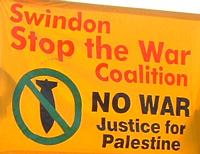 Swindon Stop the War Coalition banner